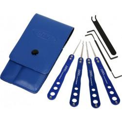 Kit de crochetage DINO 7 pièces Bleu