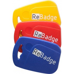 Lot de 10 badges ReBadge TM