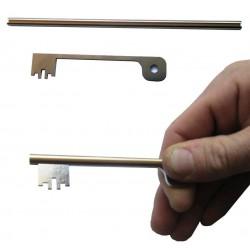 Kit de 6 Clés HERACLES - Trousseau de passes pour serures à gorges