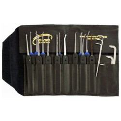 "Kit complet Peterson 14 piéces, acier ""Government Steel"" (Plastic Handle 14-Piece Government Steel Pick Set)"