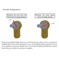 Explication du positionnement du plug spinner ou lance-rotor.