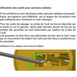 Notice d'utilisation du kit d'ouverture de serrures radiales.