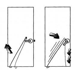 Visuel d'utilisation du système d'ouverture porte claquée par le bas