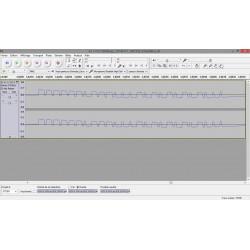 graph écran d'utilisation de la Clé USB RTL-SDR 24MHz-1.7GHz