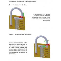 Notice d'utilisation des outils d'ouverture de cadenas par l'anse.
