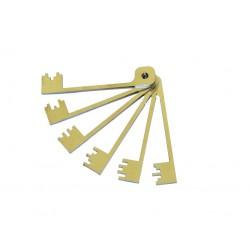 Kit de 6 Clés Laperche - Trousseau de passes pour serures à gorges
